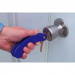 Llavero girador para tres llaves